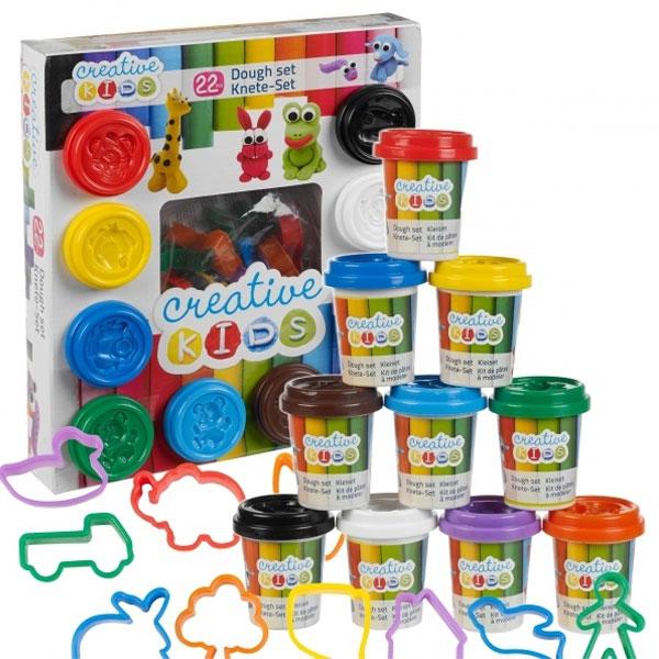 Creative kids set plastelin sa modlama 22 dela 10x55g 23398 - ODDO igračke