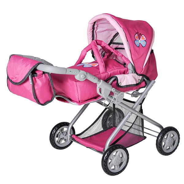 Kolica za lutke Knorr Toys Kyra pink w. Butterfly 61888 - ODDO igračke
