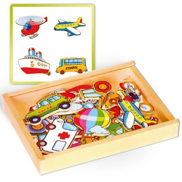Viga Drveni magneti saobraćaj 58924VG - ODDO igračke
