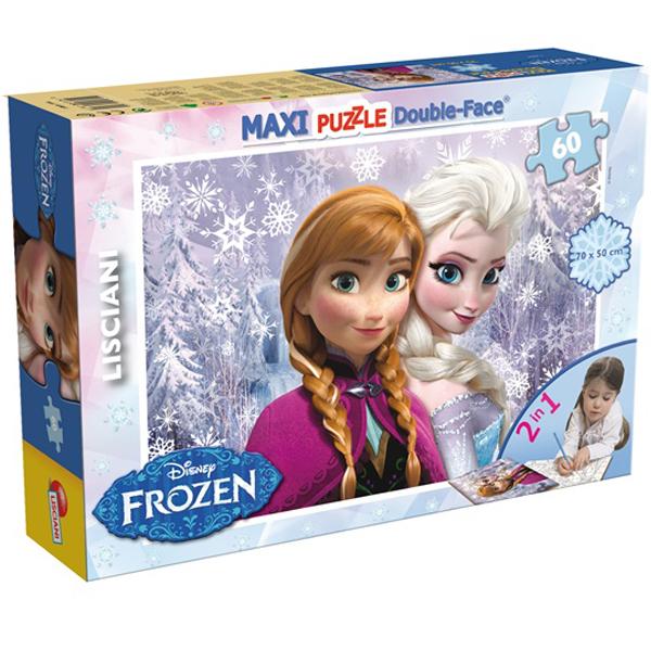 Slagalica Lisciani 60pcs Maxi Frozen Sisters 2u1 slozi I oboji 46881 - ODDO igračke