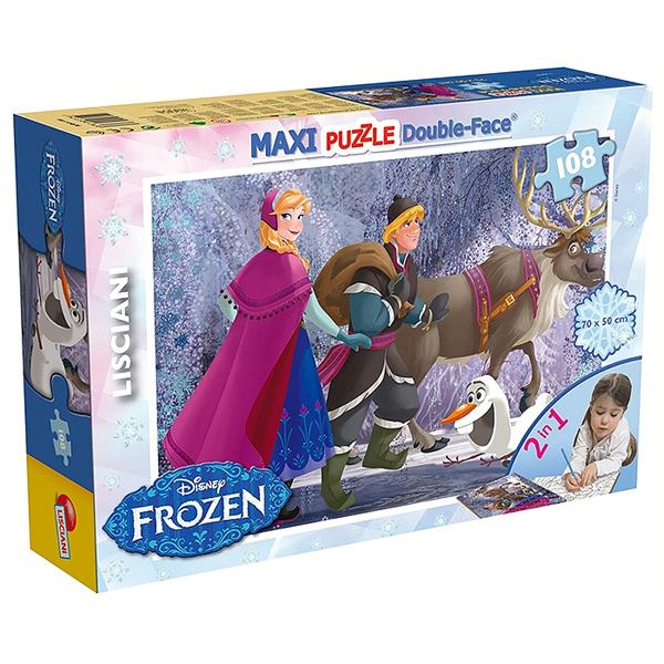 Slagalica Lisciani 108pcs Maxi Frozen On The Walk 2u1 slozi I oboji 46898 - ODDO igračke