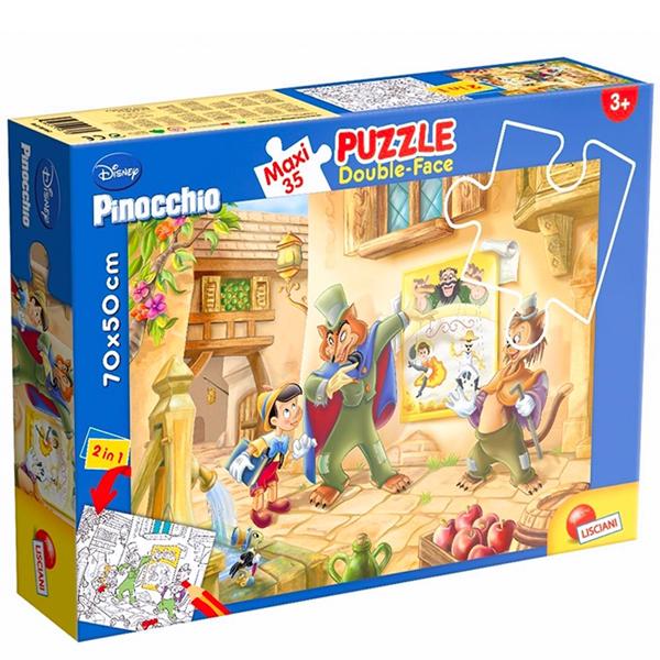 Slagalica Lisciani 35pcs Maxi Pinokio  2u1 slozi I oboji 48182 - ODDO igračke