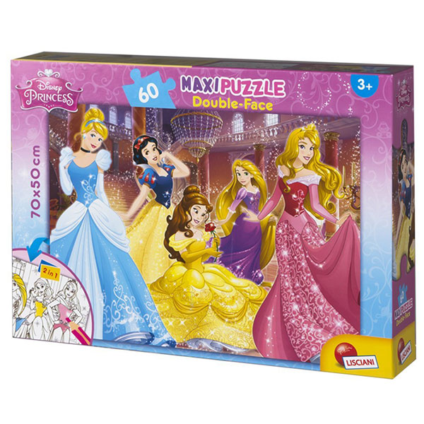 Slagalica Lisciani 60pcs Maxi Princess 2u1 slozi I oboji 48250 - ODDO igračke
