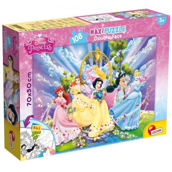 Slagalica Lisciani 108pcs Maxi Princess-Friends 2u1 složi i oboji 48274 - ODDO igračke