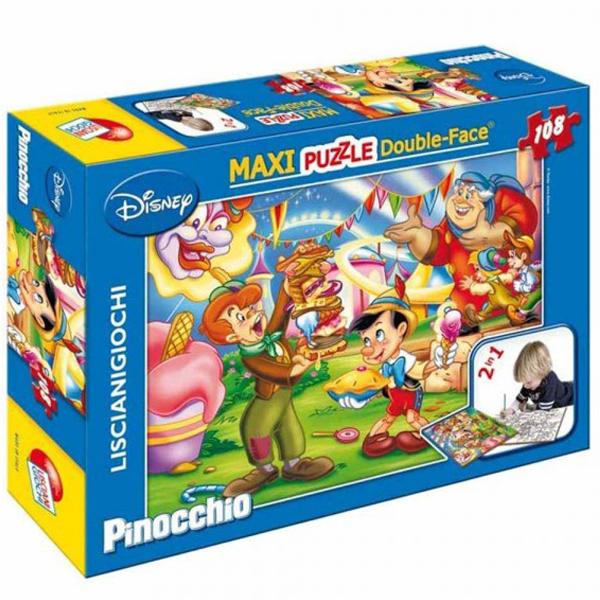 Slagalica Lisciani 108pcs Maxi Pinokio 2u1 slozi I oboji 31757 - ODDO igračke
