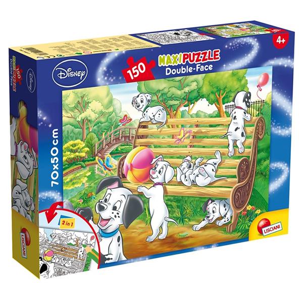 Slagalica Lisciani 150pcs Maxi 101 Dalmatinac 2u1 slozi I oboji 48311 - ODDO igračke