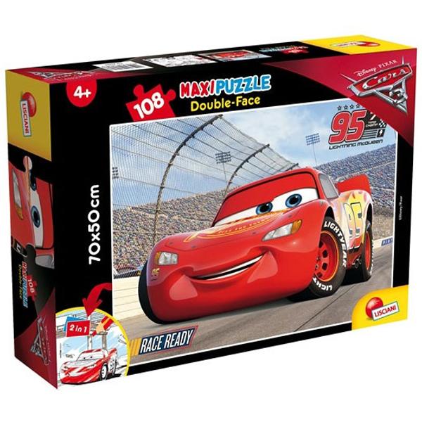 Slagalica Lisciani 108pcs Maxi Cars 3 Fast friends 2u1 slozi I oboji 60603 - ODDO igračke