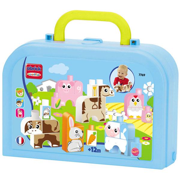Kocke Kofer Životinje Ecoiffier SM007769 - ODDO igračke