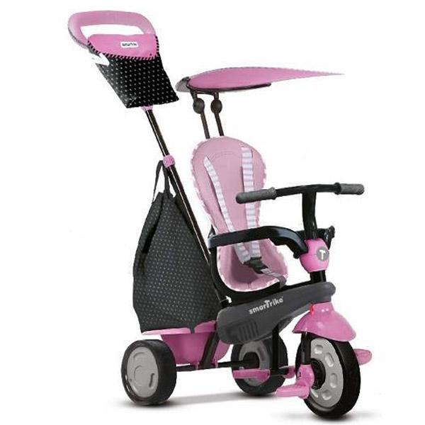 Tricikl sa ručkom i tendom Shine Pink Smart Trike 6402202 - ODDO igračke