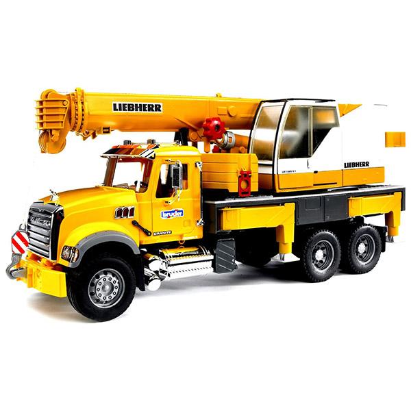 Kamion Mack sa kranom Liebherr Bruder 028183 - ODDO igračke