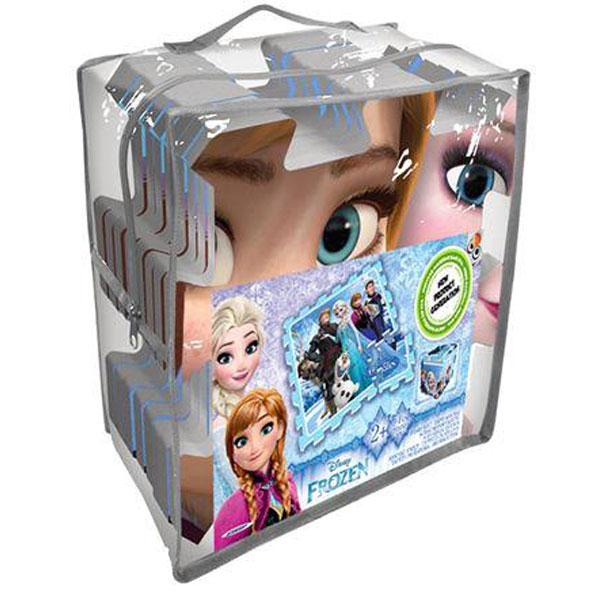 Podloga za igru - slagalica 9 kom, Frozen + torba 0126645 - ODDO igračke
