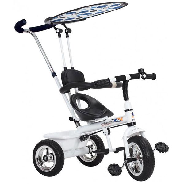 Tricikl sa ručkom i tendom beli 901322 - ODDO igračke