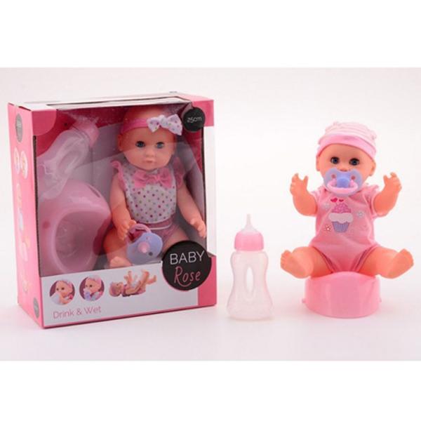 Rose Lutka beba pije i piški 25cm 27546 - ODDO igračke