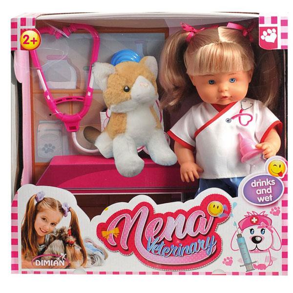 Lutka Bambolina Nena Veterinarka 36cm D382 - ODDO igračke
