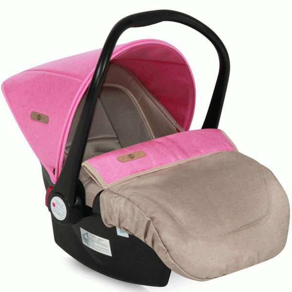 Auto sedište za decu od 0-13kg Lifesaver Beige&Rose 10070301746 - ODDO igračke