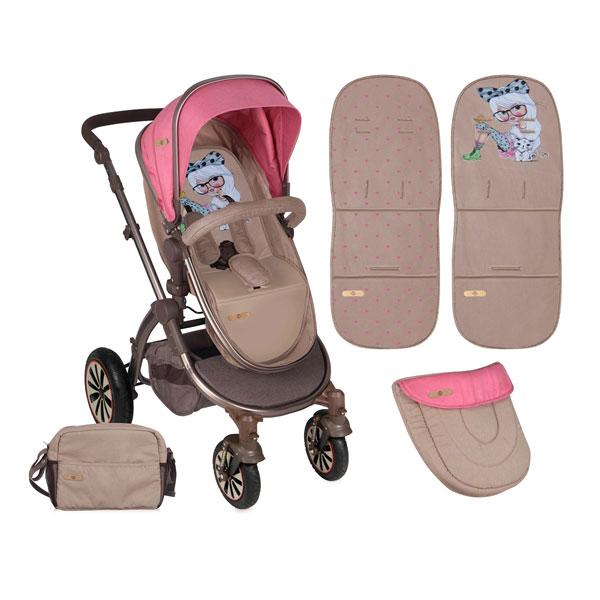 Kolica Aurora Rose&Beige Fashion Girl 10020921746 - ODDO igračke