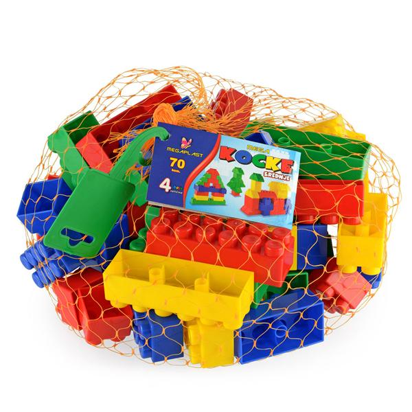 Megaplast kocke 70pcs u mreži 3950919 - ODDO igračke