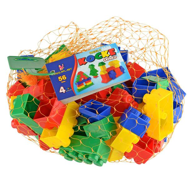 Megaplast Mega kocke S mreža 56pcs 3950933 - ODDO igračke