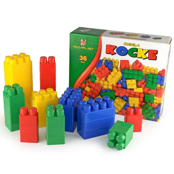 Megaplast kocke 36pcs kutija 3950858 - ODDO igračke
