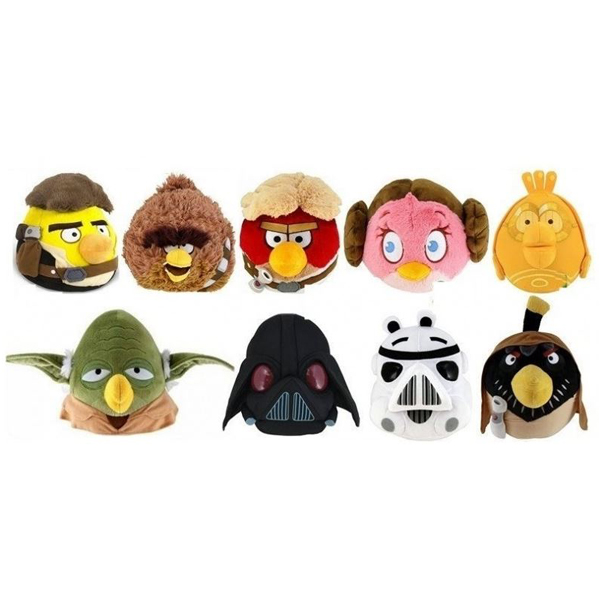Angry Birds Plisani Star Wars 9ass 20cm 2315552 - ODDO igračke