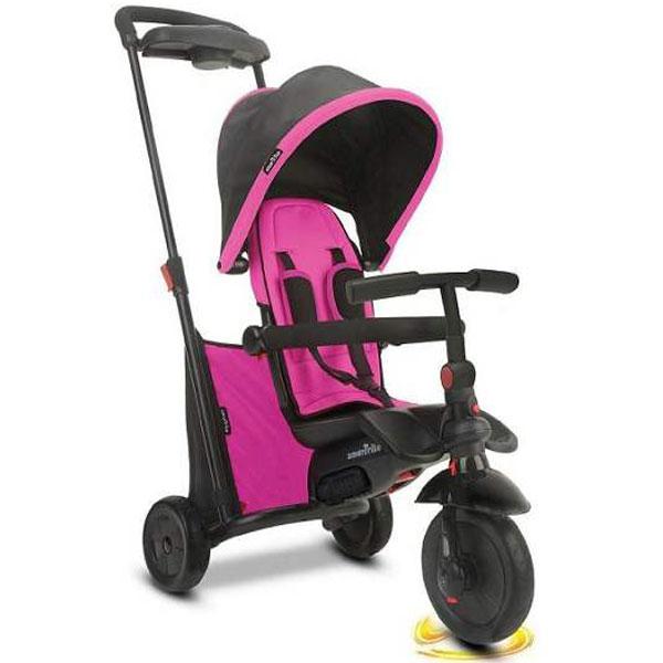 Tricikl sa ručkom i tendom Folding 500 Pink 5050200 - ODDO igračke