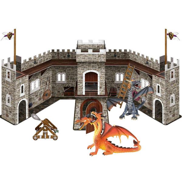 Bullyland Set zamak sa dva zmaja Dragon 75037 - ODDO igračke
