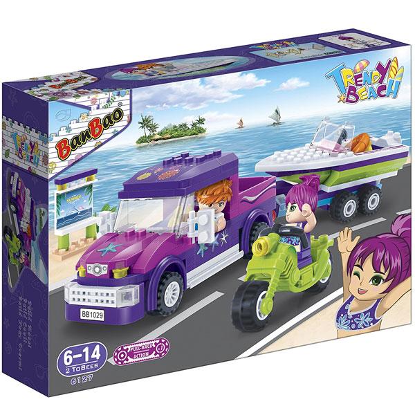 BanBao kocke Trendi auto sa čamcem 6127 - ODDO igračke