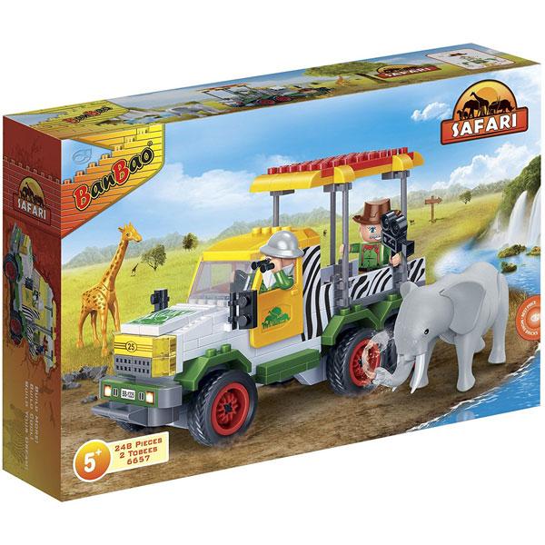 BanBao kocke Safari terenac za prevoz životinja 6657 - ODDO igračke