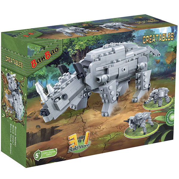 BanBao kocke Dinosaur transformers 3 u 1 6851 - ODDO igračke