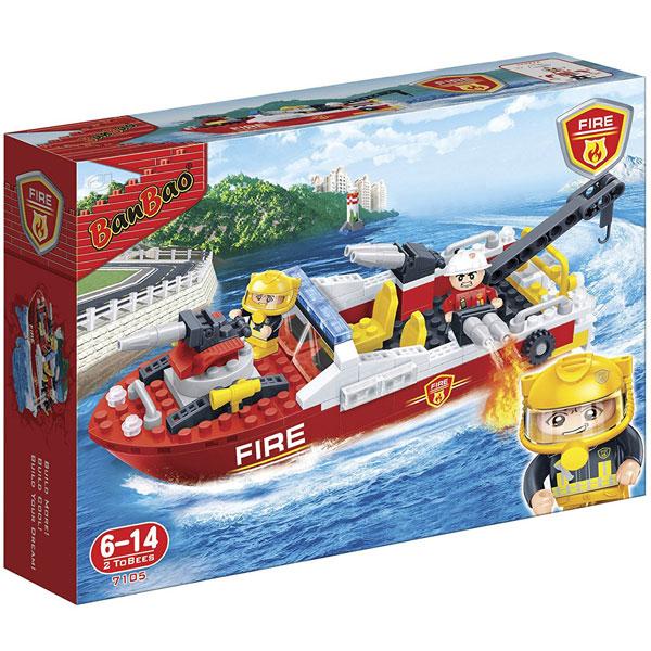 BanBao kocke Vatrogasni čamac 7105 - ODDO igračke