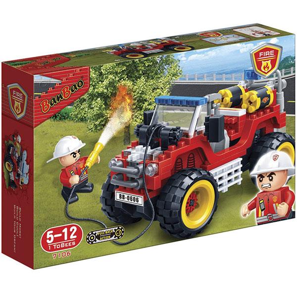 BanBao kocke Vatrogasni džip 7106 - ODDO igračke