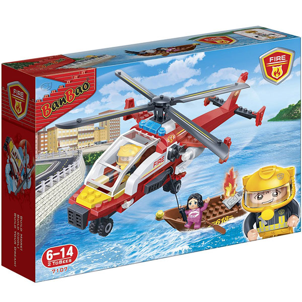 BanBao kocke Vatrogasni avion 7107 - ODDO igračke