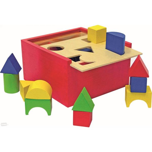 Woody Drvena Kutija Pogodi oblik 90001 - ODDO igračke