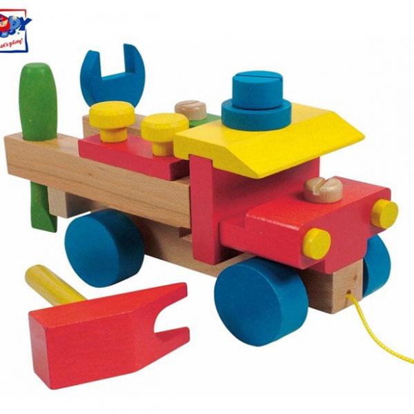 Woody Drveni Montažni auto 90101 - ODDO igračke