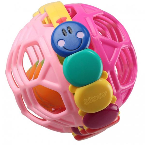Zvečka šupljikava lopta Jollybaby 8110j roze - ODDO igračke
