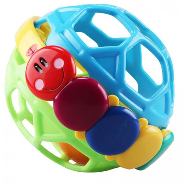 Zvečka šupljikava lopta Jollybaby 8110j plava - ODDO igračke