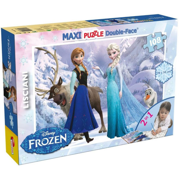 Slagalica Lisciani 108pcs Maxi Frozen Elsa i Anna 2u1 slozi I oboji 46904 - ODDO igračke