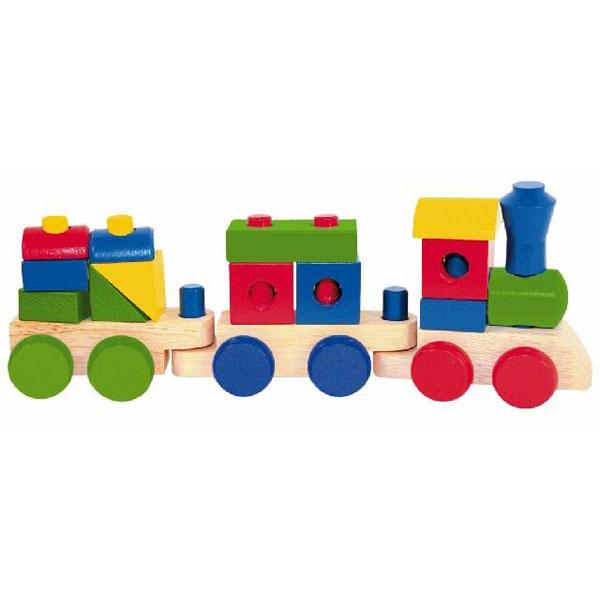 Woody Drvene Kocke vozić sa dva vagona 90827 - ODDO igračke
