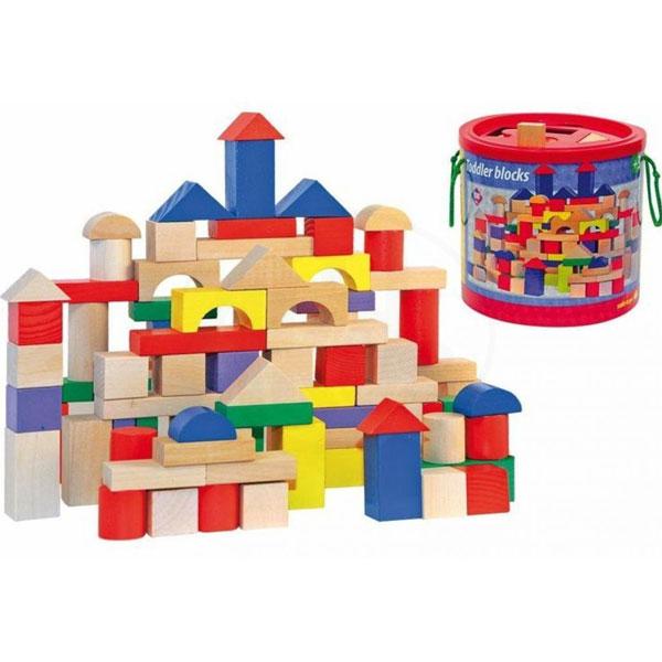 Woody Drvene kocke u boji 90905 - ODDO igračke