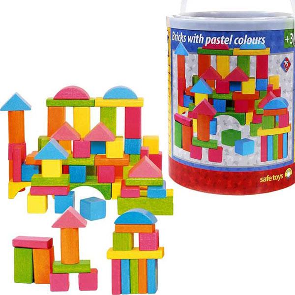 Woody Drvene Kocke raznih boja 90908 - ODDO igračke