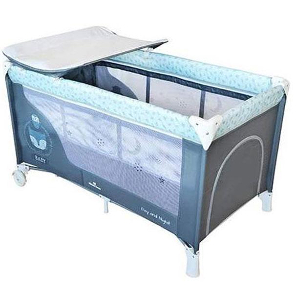 Prenosivi krevetac Torba Day&Night 2 Nivoa Blue Fox 31003010013 - ODDO igračke