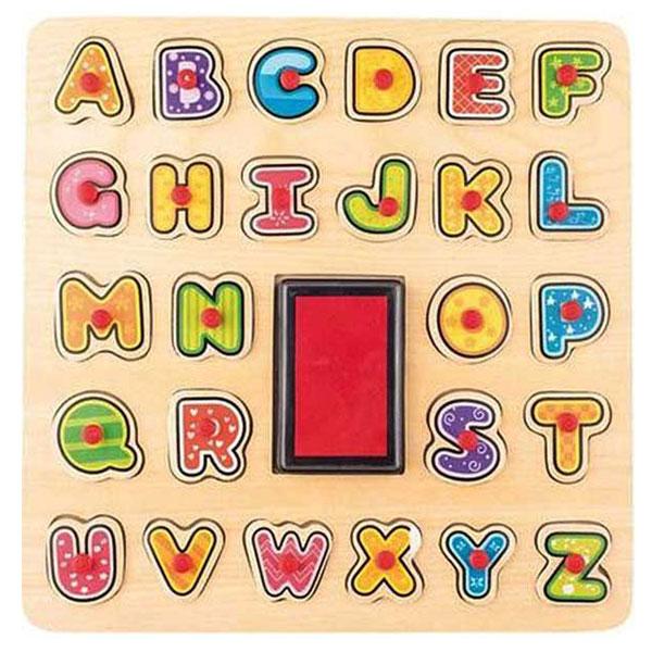 Woody Pečat Alfabet 91808 - ODDO igračke