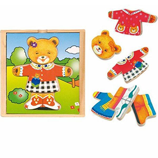 Woody Puzzle Obuci medu mamu 90011 - ODDO igračke