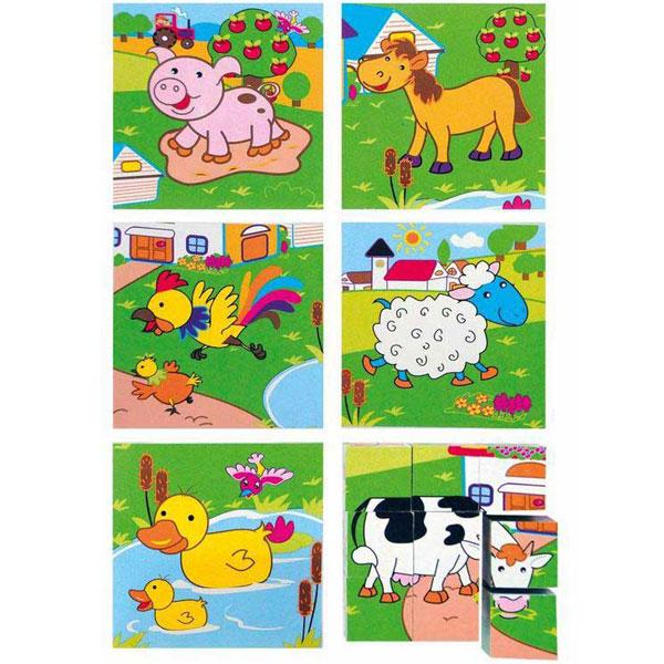 Woody Puzzle Životinjska farma 3x3 90040 - ODDO igračke