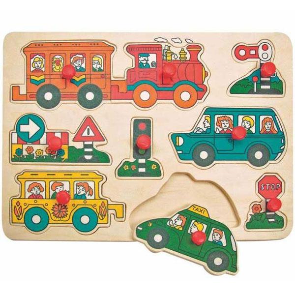 Drvene Puzzle Automobili Woody 90066 - ODDO igračke