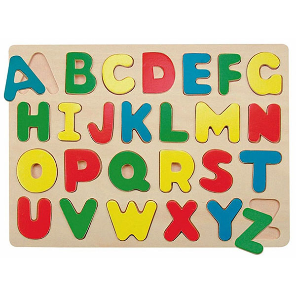 Woody Puzzle Abeceda 90068 - ODDO igračke