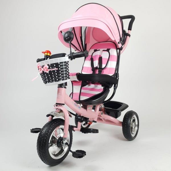 Tricikl sa ručkom i tendom Playtime model MERIDIAN 406 - ODDO igračke