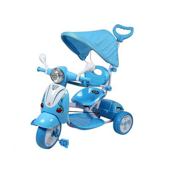 Tricikl sa ručkom i tendom Vespa model 410 - ODDO igračke
