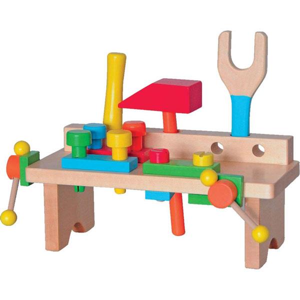 Woody Drveni Montažni sto i alat 90103 - ODDO igračke