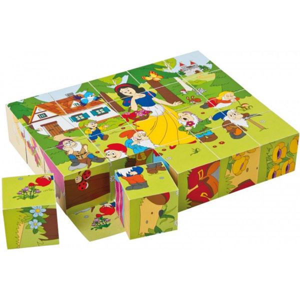 Woody Drvene puzzle kocke Bajke 90247 - ODDO igračke